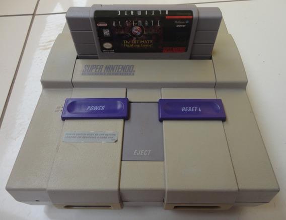Super Nintendo Controle, Fonte,cabo Av, Mk3 Ultimate +brinde