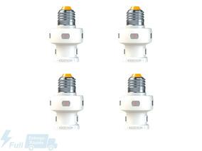 Kit Rele Fotosoquete Iluminação C/ Timer E27 4 Uni Exatron