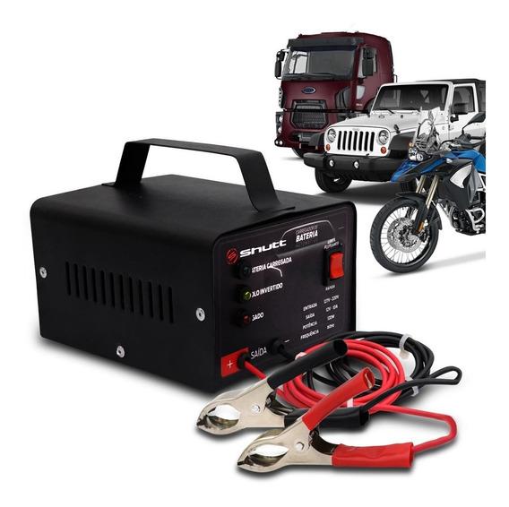 Carregador De Bateria Automotivo Bivolt 10a Com Led Shutt