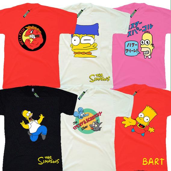 Lum- Remeras Niños Estampadas Los Simpsons - 1ª Calidad