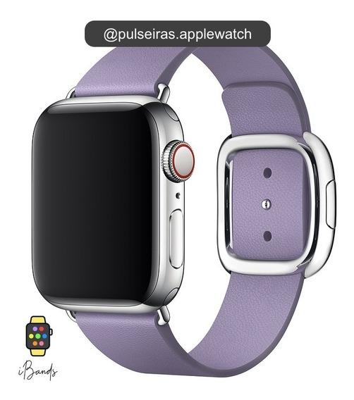 Pulseira Couro Apple Watch Fecho Moderno Magnético