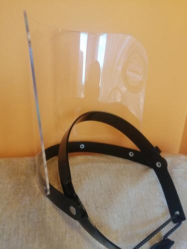 Imagen 1 de 4 de Caretas De Acrílico 2mm Protector Facial De Acrílico 2mm