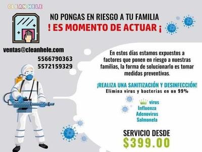 Gel Antibacterial Y Sanitizacion De Espacios.