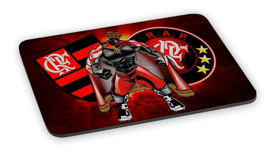 Mousepad Flamengo Mascote Urubu Rei Mengo Time Futebol Fla