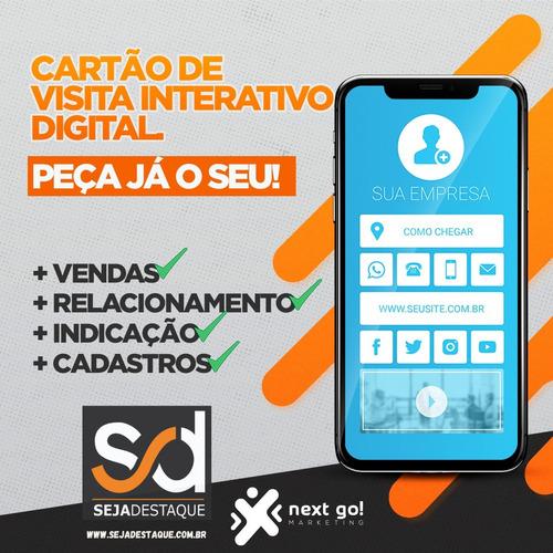 Imagem 1 de 7 de Micro-site, Santinho E Cartão De Visita Interativo Online