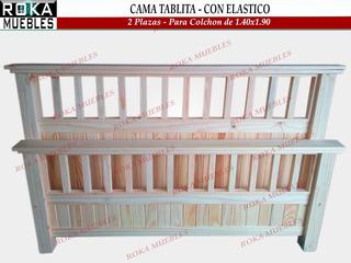 Cama Tablita 2 Plazas Para Colchón De 1.40x1.90 Reforzado