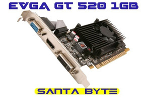 Placa De Vídeo Evga Geforce Gt520 1gb