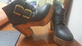 Zapatos Botines De Mujer Cuero