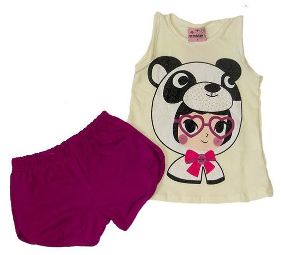 Conjuntos Baby Menina Shorts + Regata Tamanho 1