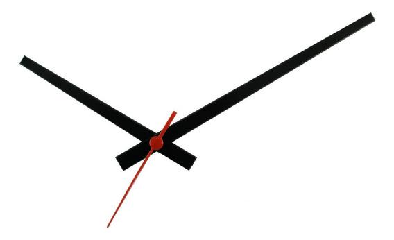 Conjunto De Ponteiros Plástico Gigante Para Relógios Preto