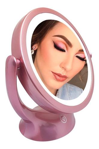 Espejo Doble X5 Luz Led Tactil Maquillaje Carga Usb Touch