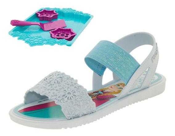 Sandália Infantil Feminina Frozen Cookies Azul Grendene Kids