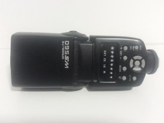 Flash Speedlite Ws560 Universal Canon / Nikon - Preto