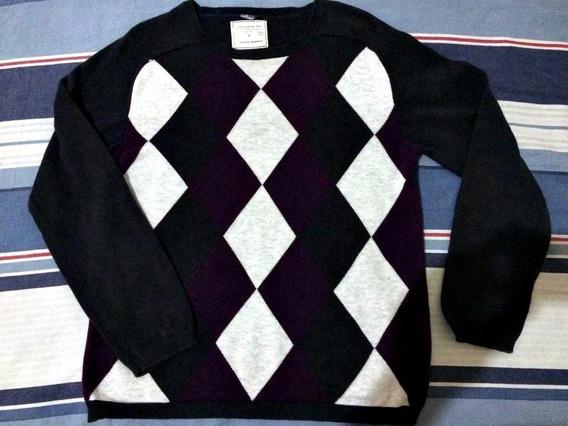 Suéter Quadriculado Veste P/m