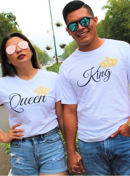 Dúo Playeras Bordadas King Queen
