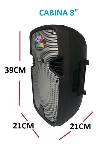 Parlante Cabina De Sonido Profesional Bt + Microfono 8