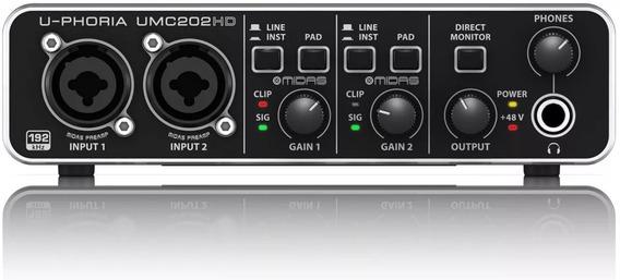 Umc202hd Interface De Audio Usb Behringer U-phoria Pré Midas