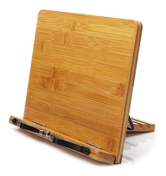 Suporte De Leitura Bamboo Book Stand Ajustável Suporte De Li