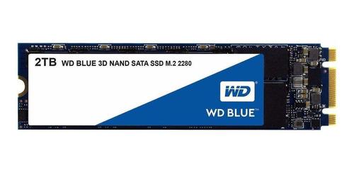 Imagen 1 de 2 de Disco sólido interno Western Digital  WDS200T2B0B 2TB azul