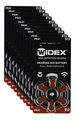 60 Pilas Para Audífono #312. Widex Pr 41 1.4 V Envío Gratis