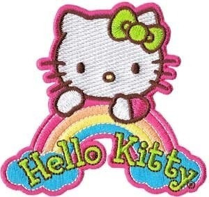 Parche Bordado Para La Ropa Hello Kitty Rainbow