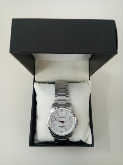 Relógio Orient Masculino Prata Fundo Prata Promocional