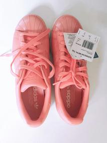Tenis adidas Feminino Superstar Toe W Rosa Promoção