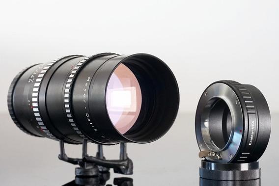 Lente Meyer Orestegor 200mm\15lamin + Adapt. Canon Ou Sony E
