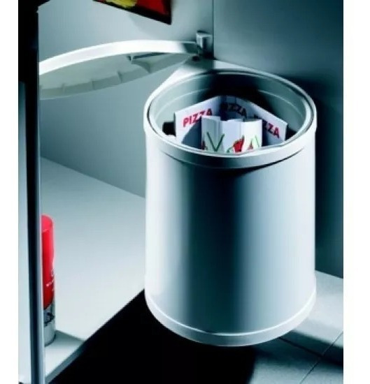 Cubo Cesto Residuos Plastico 15lts Cod. Hafele 502.12.729