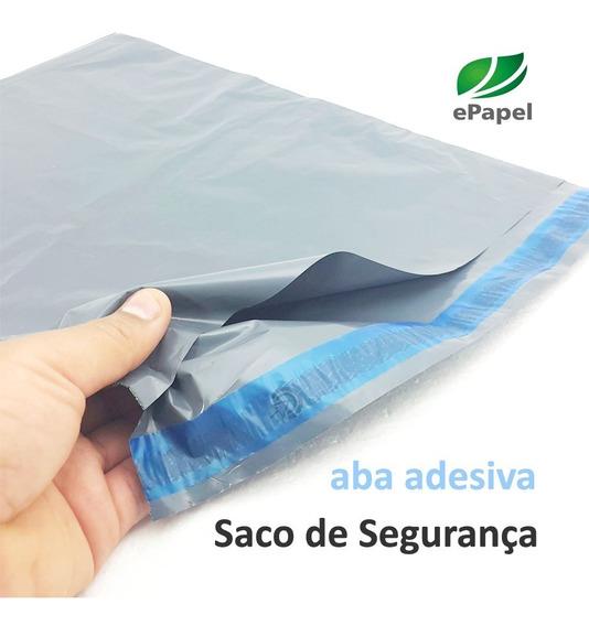 500 Envelopes De Segurança 26x36 Sacos Plástico Aba Adesiva