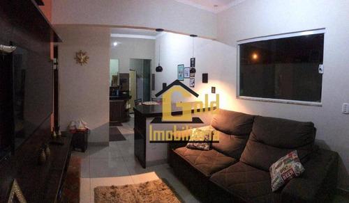 Casa Com 2 Dormitórios À Venda, 176 M² Por R$ 275.000 - Jardim Florestan Fernandes - Ribeirão Preto/sp - Ca0849