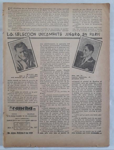 Revista La Cancha (sin Tapa) - Poster River Tricampeon 1937