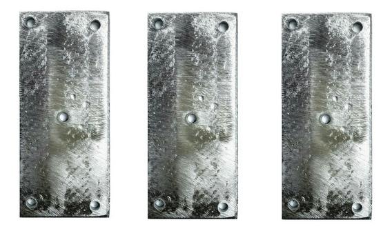 3 Peças Zinco Placa / Plaqueta 10cmx5cmx3,5mm