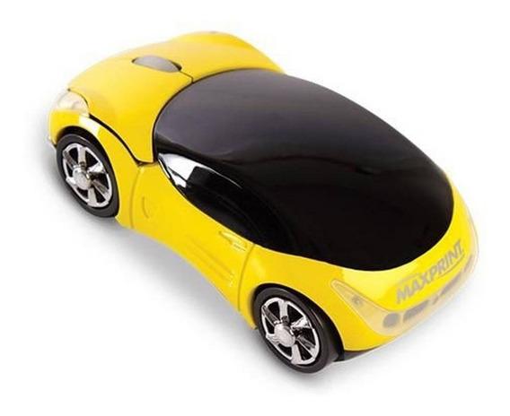 Mouse Carrinho Óptico Usb Maxprint Amarelo - Promoção