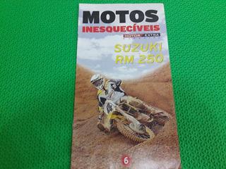 Revista Fascículo Motos Inesquecíveis Suzuki Rm 250 Jornal