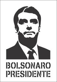 Bolsonaro Stencil Estencil Letra Vazada 25cm X 39cm