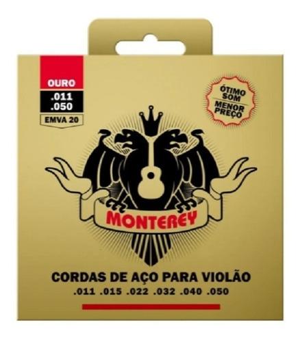 Encordoamento Monterey Emva20 Para Violão Aço 011