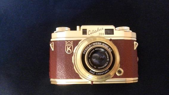 Cámara Fotográfica Antigua, Regula Citalux 300 Dorado 24k