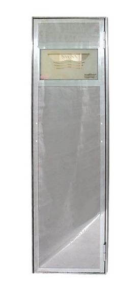 Porta Reversível Em Inox P/ Sauna - Sodramar