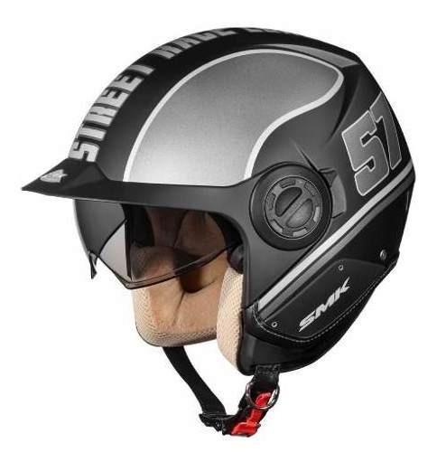Casco Moto Abierto Smk Con Visera Y Visor Derby Grid