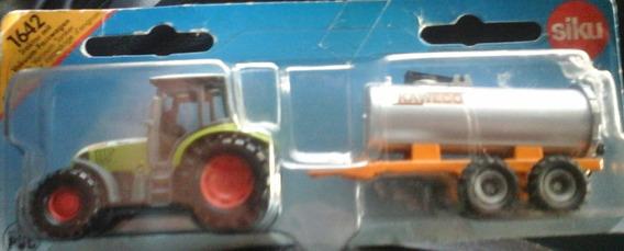 Auto Tractor Con Acoplado Tanque Siku.num.1642 Retro Rdf1