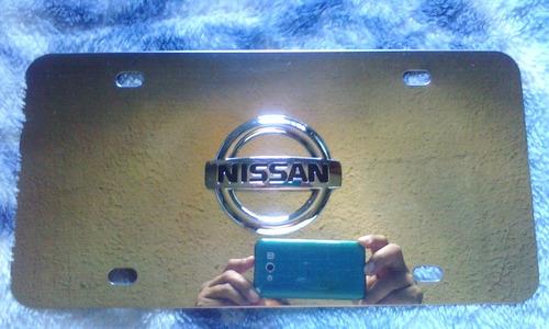 Placas Tuning En Acero Inoxidable Nissan