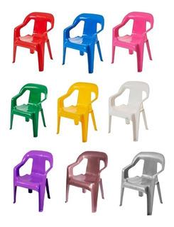 3 Un Cadeira Infantil Poltrona Infantil Plástica Com Apoio