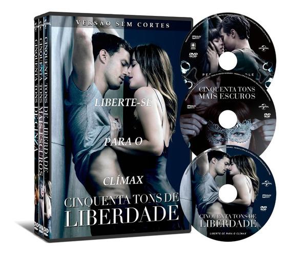 Dvd Coleção 50 Tons De Cinza 3 Filmes *versão Sem Cortes*