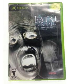 Fatal Frame Sin Manual Xbox Clasico C