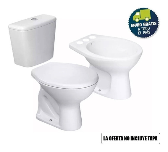 Inodoro Deposito Bidet Sanitarios Baño Completo Premium Deca