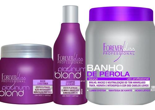 Forever Liss Kit Cabelos Loiros  Blond + Banho De Pérola 1kg