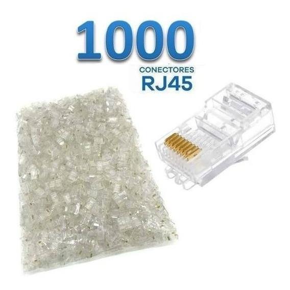 Conector Rj45 Cat5e Transparente 50 Microns 1.000 Unidades