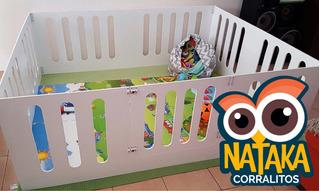 Corralito De Madera Para Bebes Plegable - 140x130