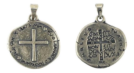Medalha Das Duas Cruzes Prata 22 Mm